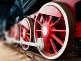 Steam Locomotive Wheels close Up