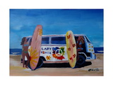 Surf Bus Series - The Lady Flower Power VW Bus