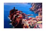 Spectacular Cinque Terre View to Vernazza  Ligure