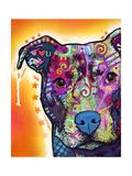 Heart U Pit Bull Giclée par Dean Russo