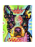Boston Terrier Crowned Giclée par Dean Russo