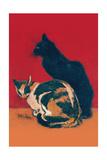 Chats Reproduction d'art par Théophile Alexandre Steinlen