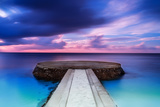 Beautiful Pier in Sunset  Dramatic Purple and Blue Cloudy Sky  Place for Romantic Dinner  Luxury Re