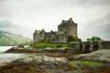 Eilean Donan Castle on a Cloudy Day Low Tide Highlands  Scotland UK