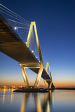 Charleston Sc Arthur Ravenel Jr Bridge Cooper River Sunset