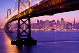 Bay Bridge Twilight Papier Photo par Tom Grubbe