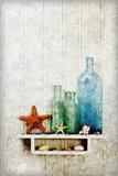 Starfish, Seashells and Bottles Papier Photo par James A. Guilliam
