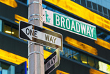 Broadway Sign in Time Square  New York