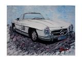 The White Mercedes SL 300 1957