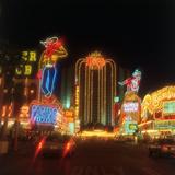 Neon Signs on the Strip  Las Vegas  Nevada