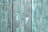Turquoise or Mint Green Wooden Old Patterned Background in Vintage Style