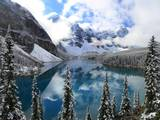 First Snow at Moraine Lake  Banff Np  Canada
