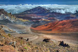 The Colorful Haleakala Crater  Maui  Hawaii