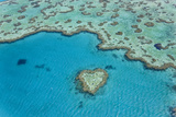 Heart Reef  Part of Great Barrier Reef  Australia