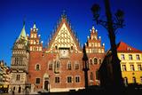 Town Hall Facade  Wroclaw  Dolnoslaskie  Poland  Europe