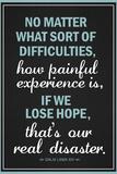 Dalai Lama Hope Quote Poster