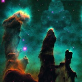 Gaseous Pillars in the Eagle Nebula