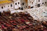 The Fes Leather Tannery with its Colourful Wells and Pungent Odour the World Famous Leather is Dye