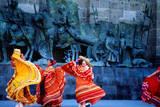 Performers in Front of Palacio De Justicia