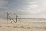Wooden Soccer Net on Beach