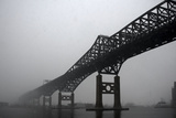 The Pulaski Skyway in the Snow and Fog