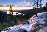 A Beautiful Sunrise at Eagle Falls at Emerald Bay in Lake Tahoe  California