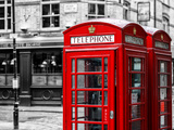 Red Telephone Booths - London - UK - England - United Kingdom - Europe - Spot Color Photography