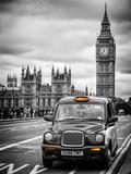 London Taxi and Big Ben - London - UK - England - United Kingdom - Europe Papier Photo par Philippe Hugonnard
