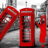 Art Print Series - Red Telephone Booths - London - UK - England - United Kingdom - Europe