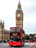 London Red Bus and Big Ben - London - UK - England - United Kingdom - Europe