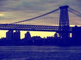 The Williamsburg Bridge at Nightfall - Lower East Side of Manhattan - New York City
