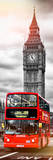 London Red Bus and Big Ben - City of London - UK - England - Photography Door Poster Papier Photo par Philippe Hugonnard