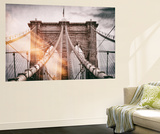 Wall Mural - The Brooklyn Bridge - Manhattan - New York - USA