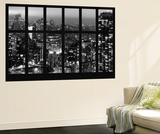 Wall Mural - Window View - Manhattan at Night with the New Yorker Hotel - New York