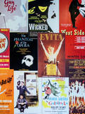 NYC Street Art - Patchwork of Old Posters of Broadway Musicals - Times Square - Manhattan Papier Photo par Philippe Hugonnard