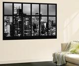 Wall Mural - Window View - Manhattan Skyscrapers at Night - New York