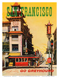 San Francisco  USA  Cathay House Restaurant  China Town  Go Greyhound