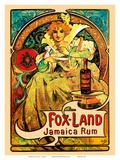Jamaica Rum  Art Nouveau  La Belle Époque