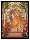 Calendar, Art Nouveau, La Belle Époque Reproduction d'art par Alphonse Mucha