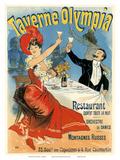 Taverne Olympia Art Nouveau, La Belle Époque Reproduction d'art par Jules Chéret