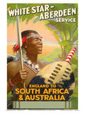 England to South Africa & Australia  White Star Line  Aberdeen Service