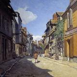 Rue De La Bavolle in Honfleur - by Claude Monet