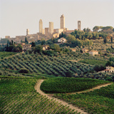 San Gimignano  a UNESCO World Heritage Site in Tuscany  Italy