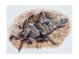 Smilodon (Dirk Sabertooth) Killing a Platygonus