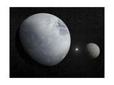 Pluton  its Big Moon Charon and the Polaris Star