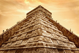 Tourists Climb the Pyramid of Kukulcan