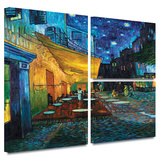 Café Terrace at Night Gallery-Wrapped Canvas