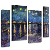 Starry Night over the Rhone 4 piece gallery-wrapped canvas