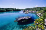 Lagoon at Xel Ha National Park in Mexico