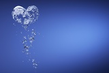Heart Shape Formed with Bubbles